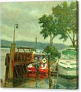 Docked Boats Canvas Print