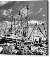Docked Shrimper Canvas Print