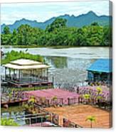 Docking Area On River Kwai In Kanchanaburi-thailand Canvas Print