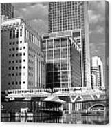 Docklands London Mono Canvas Print