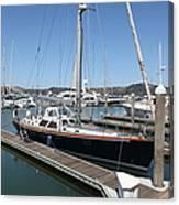 Docks At Sausalito California 5d22688 Canvas Print