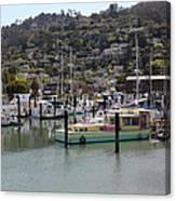 Docks At Sausalito California 5d22697 Canvas Print