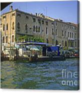 Docks On The Grand Canal Canvas Print