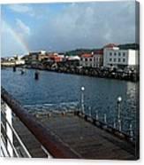 Dockside Rainbow  Canvas Print