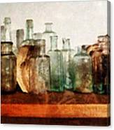 Doctor - Row Of Medicine Bottles Canvas Print