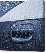 Dodge Charger Frozen Car Handle Canvas Print