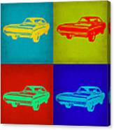 Dodge Charger Pop Art 2 Canvas Print