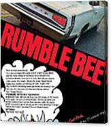 Dodge Coronet Super Bee - Rumble Bee Canvas Print
