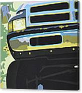 Dodge Ram With Green Hue Canvas Print