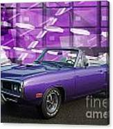 Dodge Rt Purple Abstract Background Canvas Print