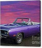 Dodge Rt Purple Sunset Canvas Print