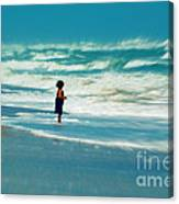 Does The Ocean Ever Stops Canvas Print