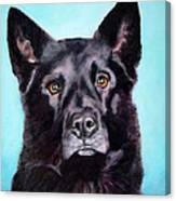 Does This Include Me Black Dog Canvas Print