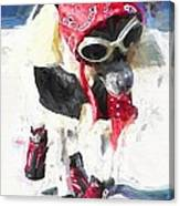 Dog Daze 8 Canvas Print
