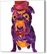Dog Gentleman Canvas Print