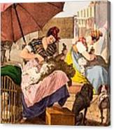 Dog Groomers, 1820 Canvas Print