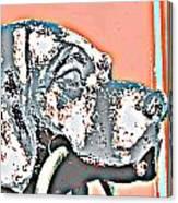 Dog Iron Door Knocker Canvas Print