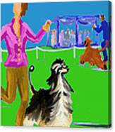 Dog Show Competitors Canvas Print