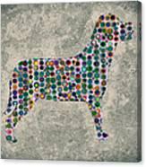 Dog Silhouette Digital Art Canvas Print
