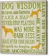 Dog Wisdom Canvas Print