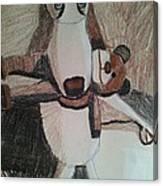Dog With Teddy  Canvas Print