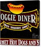 Doggie Diner Canvas Print
