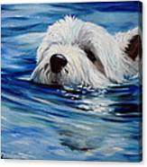 Doggie Paddle Canvas Print