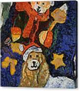 Doggie Xmas Stocking 03 Photo Art Canvas Print
