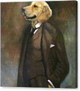 Doggone Executive Canvas Print