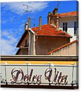 Dolce Vita Cafe In Saint-raphael France Canvas Print