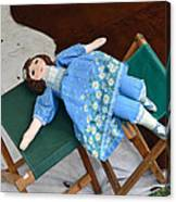 Doll And Camp Chairs 1800s Canvas Print