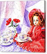 Doll At The Tea Party  Canvas Print