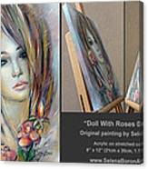 Doll With Roses 010111 Comp Canvas Print