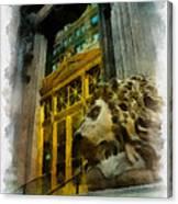Dollar Bank Lion Pittsburgh Canvas Print