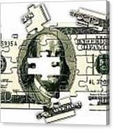 Dollar Puzzle-2 Canvas Print