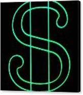 Dollar Sign Canvas Print