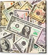 Dollars Background.  Canvas Print