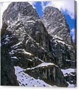 Dolomite Twin Peaks Canvas Print