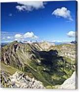 Dolomites Landscape On Summer Canvas Print