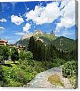 Dolomiti - Avisio Stream Canvas Print