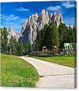 Dolomiti - Gardecia With Catinaccio Mount Canvas Print