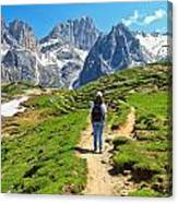 Dolomiti - Hiking In Contrin Valley Canvas Print