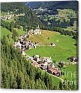 Dolomiti - Laste Village Canvas Print