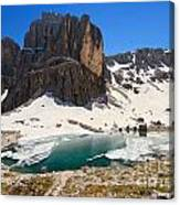 Dolomiti - Pisciadu Lake Canvas Print