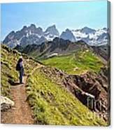 Dolomiti - Trekking In Val Ldi Fassa Canvas Print