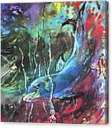 Dolphin Dives Canvas Print