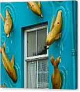 Dolphins At The Window Canvas Print