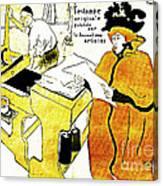 Domain-le Stamp Canvas Print