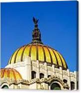 Dome Of Palacio De Las Bellas Artes Canvas Print