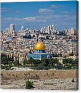 Dome Of The Rock In Jerusalem Canvas Print